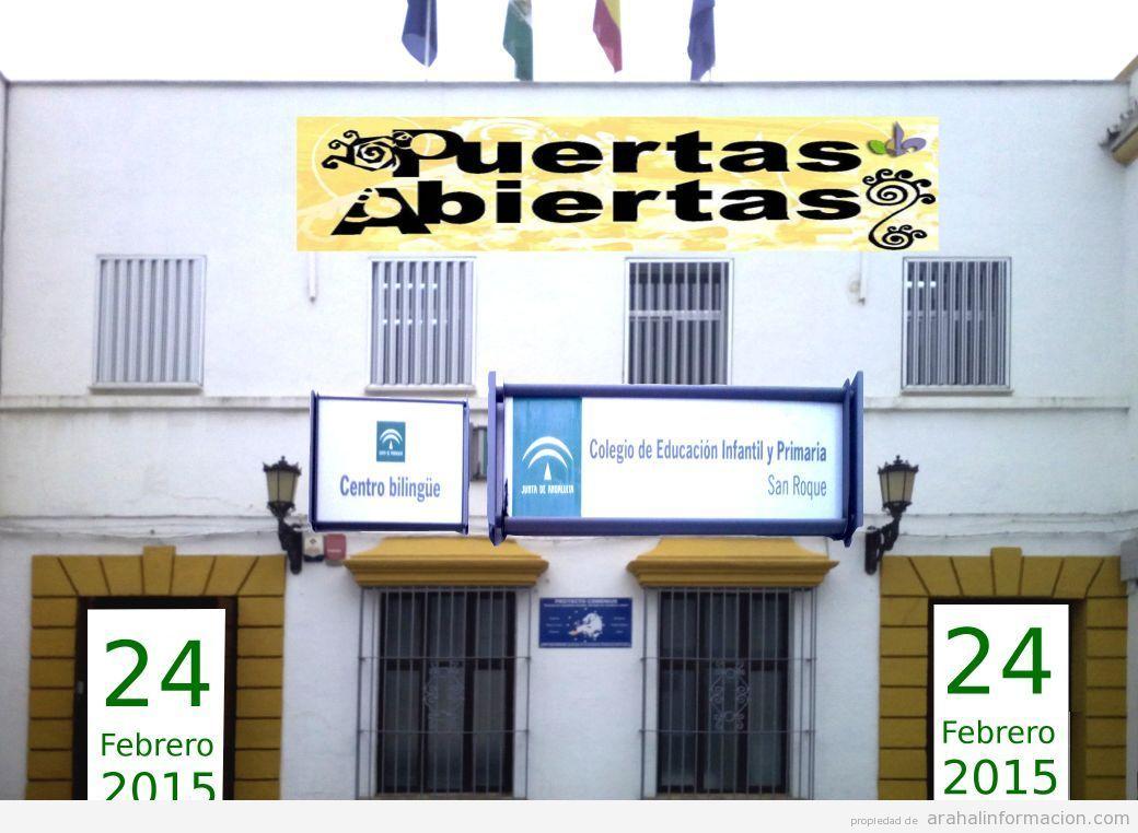 AionSur IMG-20150219-WA0026 Jornadas de puertas abiertas el día 24 de febrero en el colegio de San Roque Educación