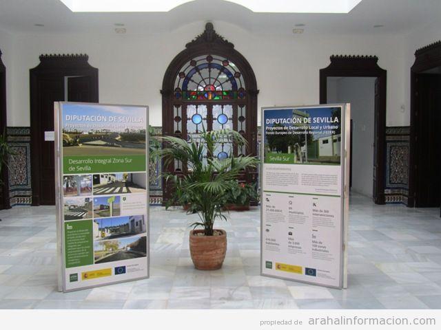 AionSur Sierra-Sur Exposición sobre el tramo final de los proyectos FEDER de Desarrollo local y Urbano Cultura