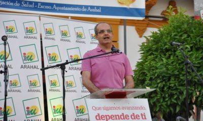 """AionSur DSC_0227-400x240 IU Arahal sale al paso de las declaraciones y publicaciones del PSOE y las califica de """"falta de respeto y demagogia"""" Sin categoría Mitin fiesta de IU"""