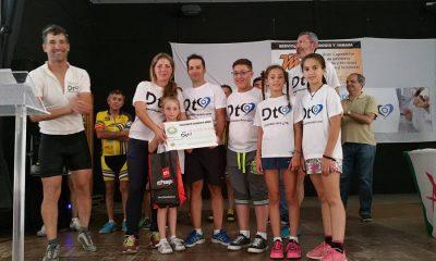 AionSur entrega-cheque-cilco-400x240 La VI Cicloturista pone un granito más en la lucha por el objetivo Ciclismo Deportes