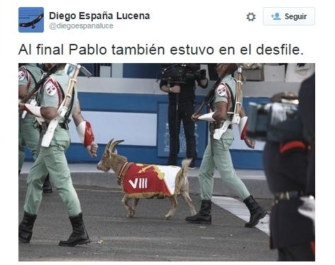 AionSur rulando-2 La cabra Pablo protagonista del Día de la Hispanidad Análisis