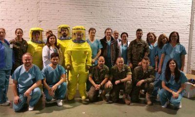 AionSur Formación-ébola-Ejército-400x240 Profesionales del Virgen del Rocío preparados para atender pacientes con virus de Ébola continúan con su proceso de formación especializada Salud