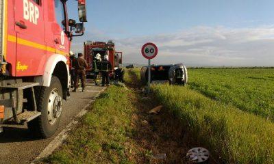 AionSur IMG-20160412-WA0019-400x240 Un hombre herido en una salida de vía en la carretera de Mairena del Alcor Sucesos