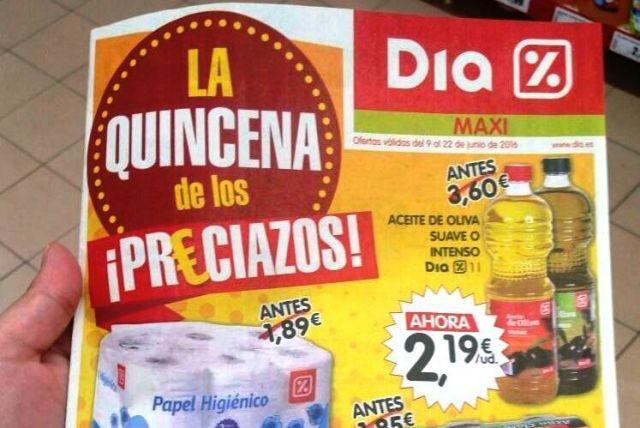 AionSur oferta-aceite-2 COAG denuncia la venta a pérdidas de aceite de oliva en supermercados DIA Sin categoría