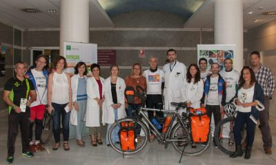AionSur ciclista-400x240 La Coordinación Sectorial de Trasplantes de Sevilla y Huelva recibe a un ciclista trasplantado bipulmonar que promueve la actividad física infantil Salud