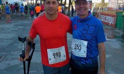 AionSur vaquero-mod-400x240 Francisco Vaquero, un atleta sevillano con una sola pierna, consigue acabar la Media Maratón de Dos Hermanas Atletismo Deportes Provincia