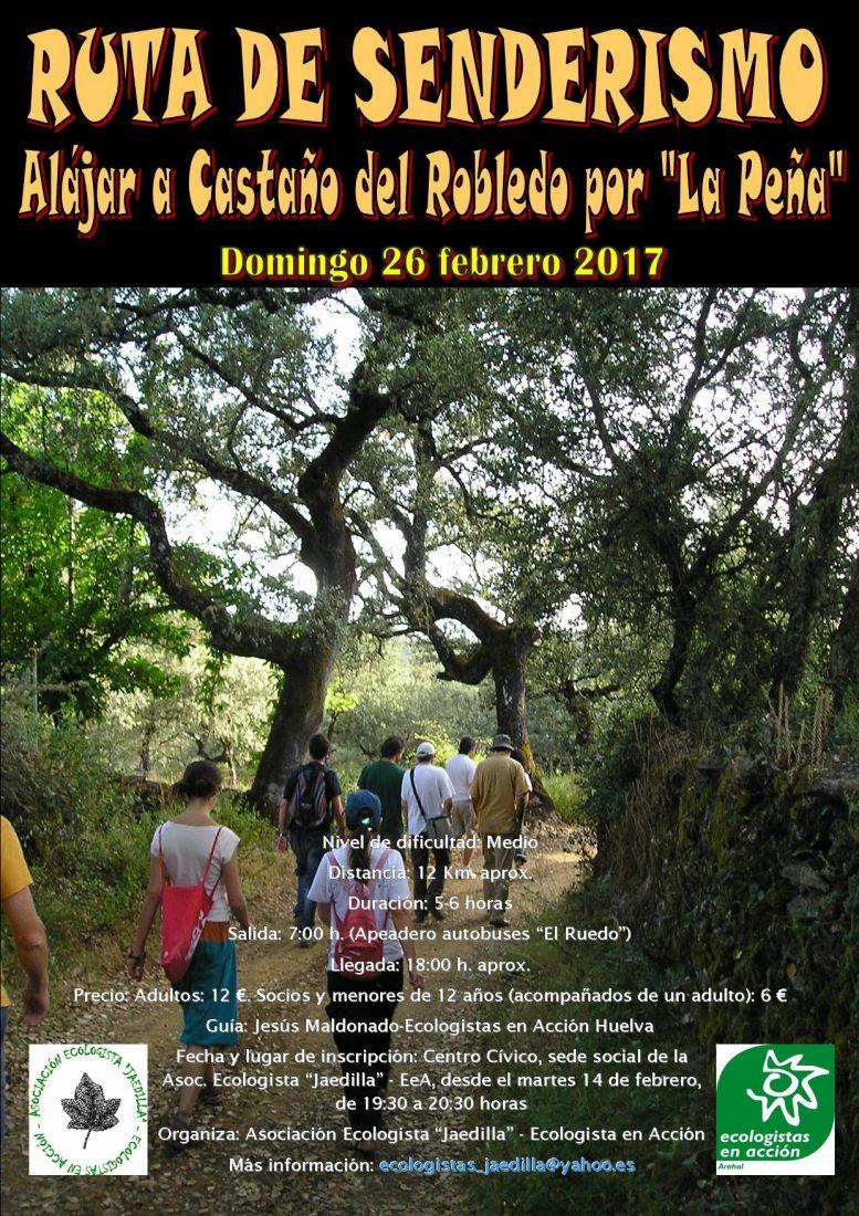 """AionSur cartel-ruta-alájar Nueva ruta de senderismo de la Asociación """"Jaedilla"""" Asociaciones Medio Ambiente Sociedad"""