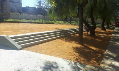 AionSur patio-colegio-Cervantes-400x240 Finalizan las obras de mejora del patio del colegio Cervantes Carmona Provincia