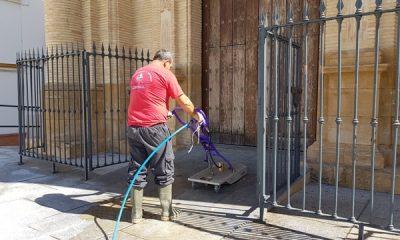 AionSur 20170403_121240-1-400x240 Una empresa especializada limpia la Plaza del Santo Cristo de cera, chicles y demás suciedad Arahal Provincia