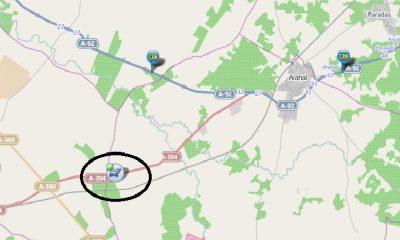 AionSur: Noticias de Sevilla, sus Comarcas y Andalucía ACCIDENTE-400x240 Cortado un carril entre Utrera y Arahal por el incendio de un camión Arahal Provincia Accidente incendio camión