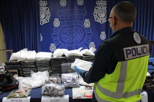 AionSur UDYCO-IV-010 La Policía Nacional detiene a diez personas dedicadas al tráfico de drogas y se incauta de 22 kilos de cocaína Andalucía Cádiz Huelva Sevilla