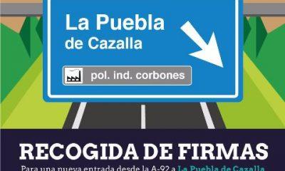 AionSur Recogida-de-Firmas-400x240 Campaña de recogida de firmas para mostrar la necesidad de una nueva entrada desde la A-92 La Puebla de Cazalla Provincia