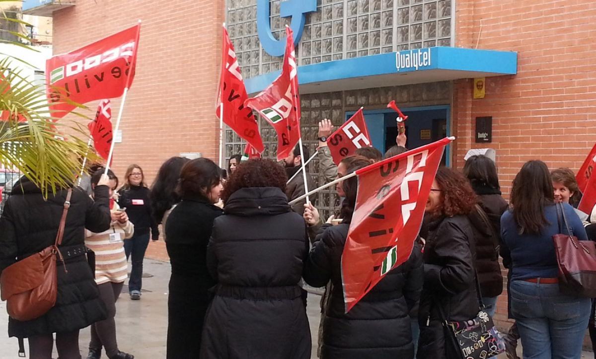 """AionSur Arvatos El """"95 por ciento"""" de la plantilla de Arvato secunda la huelga ante el ERE extintivo y el cierre del centro Sociedad"""
