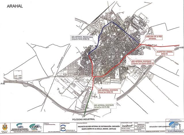 AionSur Cierre-anillo-Red-Arterial-Agua-Arahal-2 Comienzan las obras del final de la red arterial de distribución de agua en Arahal Arahal