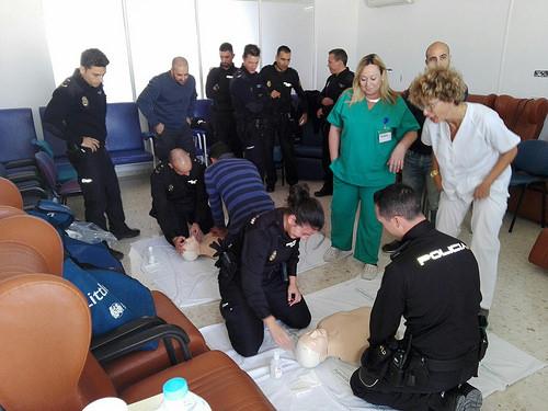 AionSur 38768467781_22533dc20f Jornadas formativas sobre primeros auxilios dirigidas a la Policía Nacional de Morón Morón de la Frontera Provincia