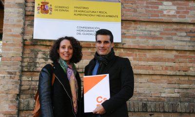 AionSur IMG_9455-400x240 La portavoz de Ciudadanos en Alcalá traslada a la Confederación el mal estado de las lindes del Guadaíra Alcalá de Guadaíra