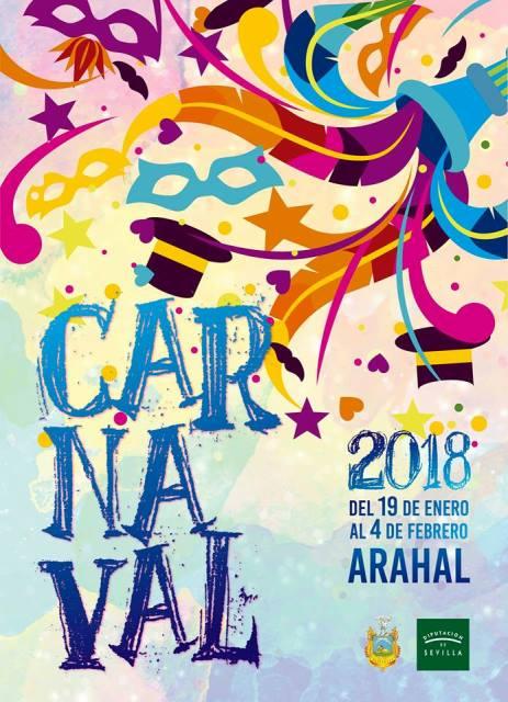 AionSur 26196044_1353228248116234_3456795630649566692_n Presentado cartel anunciador y programa del Carnaval 2018 de Arahal Arahal
