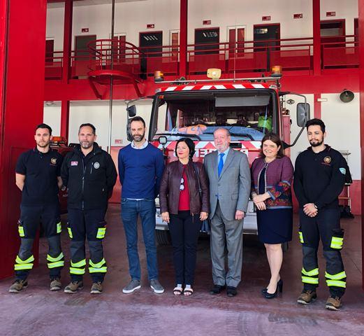 AionSur bomberos Villalobos anuncia que el parque comarcal de Bomberos se instalará en Marchena Marchena
