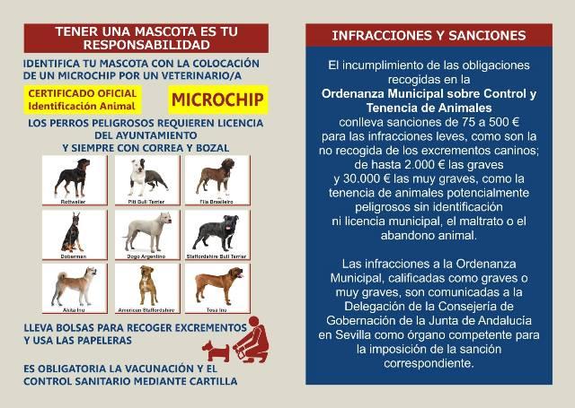 AionSur esta Se reparten en Arahal 10.000 dípticos sobre tenencia responsables de mascotas Arahal