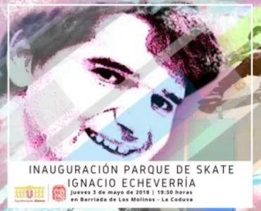 AionSur skate-utrera Utrera dedica un parque de skate a la memoria de Ignacio Echevarría Utrera