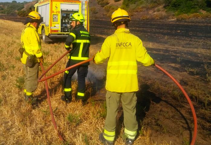 AionSur Incendio-infoca Un incendio forestal afecta a más de una hectárea en un paraje de Morón Sucesos