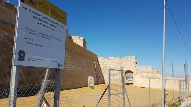 AionSur Marchena-muralla-almohade Marchena recupera todo el esplendor de su muralla Cultura Marchena