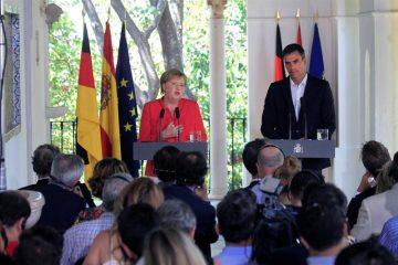 AionSur MerkelSanchez2-360x240 Histórico encuentro entre Sánchez y Merkel con la inmigración como telón de fondo Política