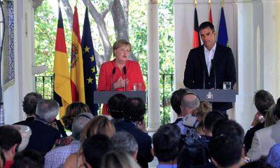 AionSur MerkelSanchez2-400x240 Histórico encuentro entre Sánchez y Merkel con la inmigración como telón de fondo Política