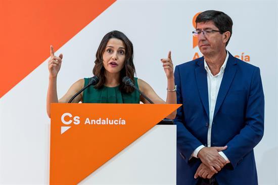 """AionSur Arrimadas Aviso de Ciudadanos a Susana Díaz: """"No habrá presupuestos si no se eliminan los aforados"""" Sin categoría"""