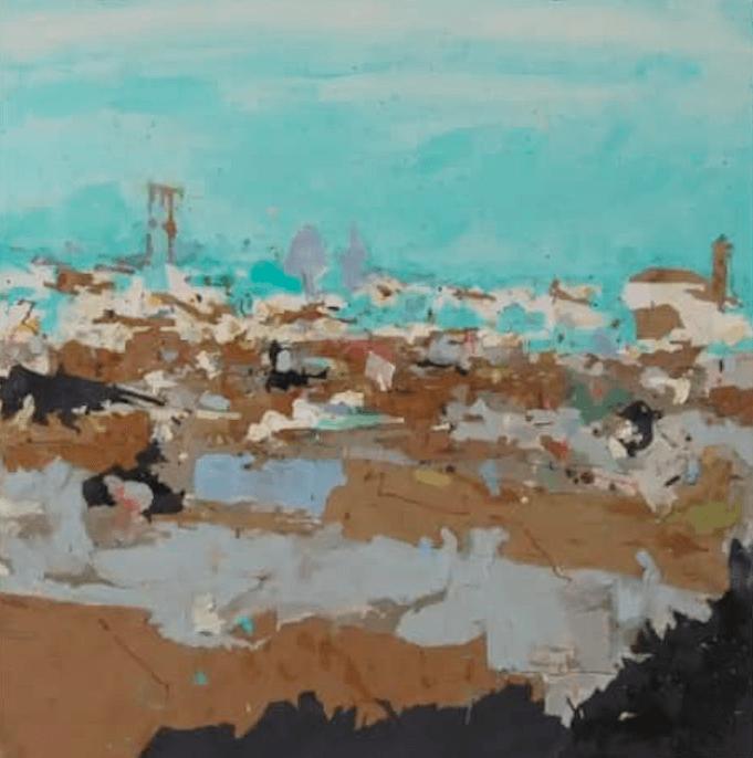 AionSur Cartografia-arahal La silueta de Arahal inspira un cuadro que se adjudica un concurso nacional Cultura Pintura