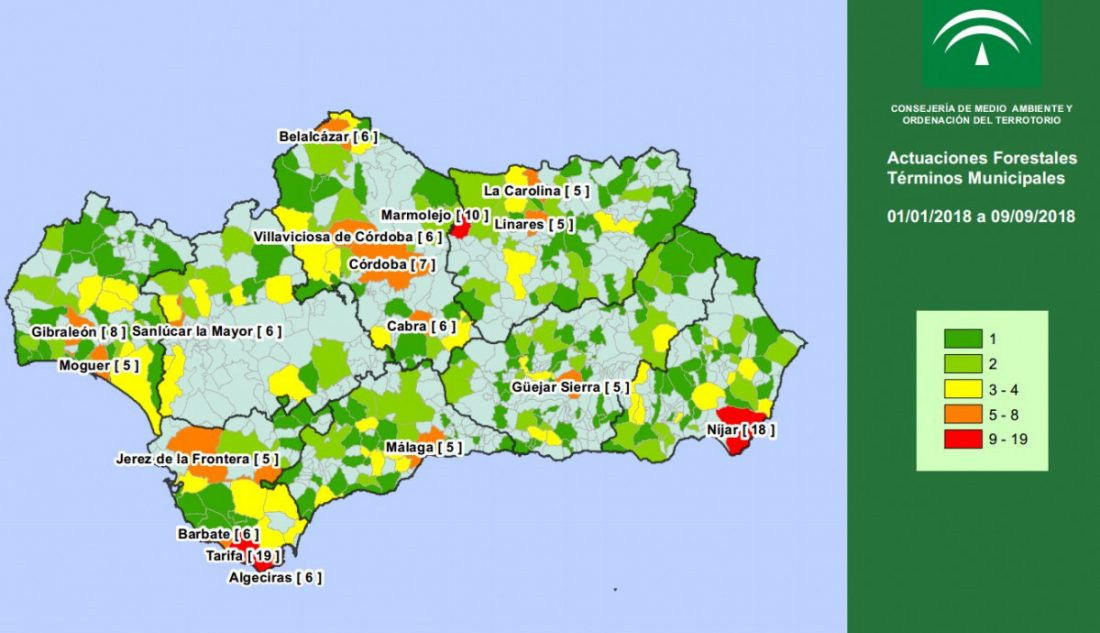 AionSur Infoca Los incendios forestales se han cebado este año con 17 pueblos andaluces Sucesos