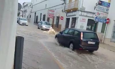 AionSur Osuna_lluvia-400x240 Inundaciones en Osuna por las fuertes lluvias, que obligan a cortar la vía del tren Osuna Sucesos