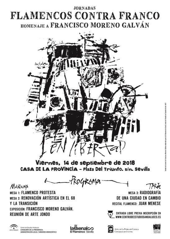 AionSur flamenco-cartel Expertos debatirán en Sevilla sobre la lucha contra el franquismo desde el flamenco Cultura Flamenco