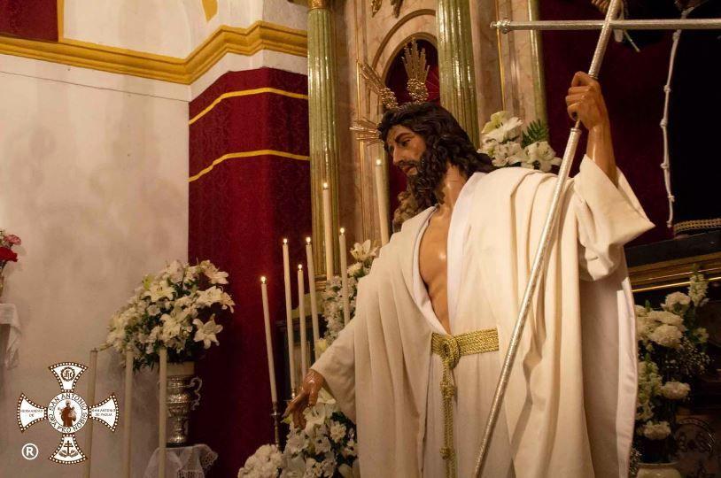 AionSur Cristo-Resucitado-Arahal El Cristo Resucitado de Arahal sale para celebrar la misa del Domingo de Resurrección Semana Santa  destacado