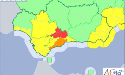 AionSur aviso-400x240 Activado aviso rojo por fuertes lluvias esta madrugada en la Sierra Sur sevillana Sucesos  destacado