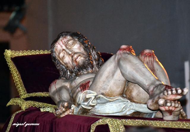 AionSur 019 El Cristo de las Aguas de La Puebla entra en el taller de Patrimonio para ser restaurado La Puebla de Cazalla Semana Santa