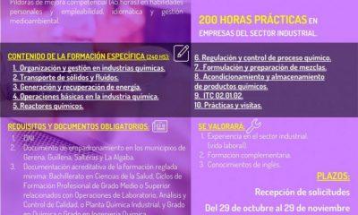 AionSur Cartel-Tecnico-QuimicoIndustrialCLC-400x240 Comienza un curso de técnico químico industrial en Guillena dirigido a desempleados Provincia