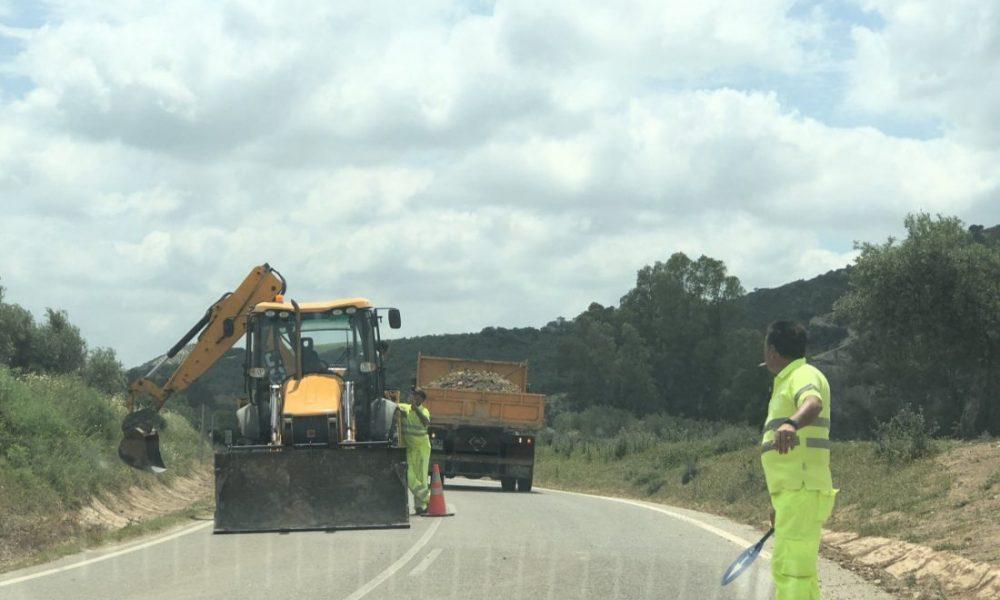 AionSur carretera-Coripe-obras-1000x600 Reclaman a la Diputación de Cádiz el arreglo de la carretera entre Coripe y Puerto Serrano Coripe Provincia