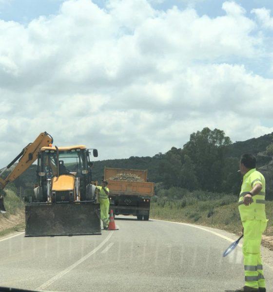 AionSur carretera-Coripe-obras-560x600 Reclaman a la Diputación de Cádiz el arreglo de la carretera entre Coripe y Puerto Serrano Coripe Provincia