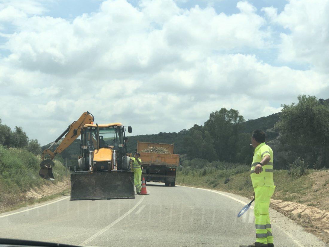 AionSur carretera-Coripe-obras Reclaman a la Diputación de Cádiz el arreglo de la carretera entre Coripe y Puerto Serrano Coripe Provincia