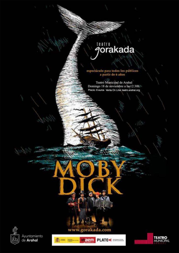 "AionSur cartel-mobydick-728x1024 La compañía Gorakada representan en Arahal ""Moby Dick"" Agenda"