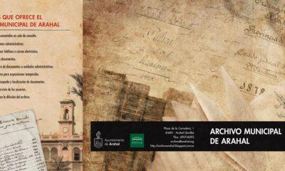 AionSur triptico-exterior-archivo-arahal-400x240 Las funciones del Archivo Municipal de Arahal, publicadas en un díptico para informar a la ciudadanía Arahal