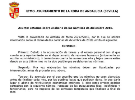 AionSur: Noticias de Sevilla, sus Comarcas y Andalucía Captura-de-pantalla-2018-12-29-a-las-12.03.28 PSOE e IU de La Roda se enzarzan en Facebook por la paga extra municipal La Roda de Andalucía destacado