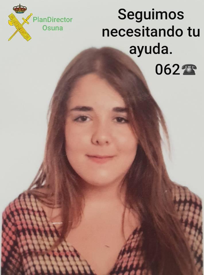 AionSur Osuna-desaparcida-menor Buscan a una menor de 15 años desaparecida en Osuna desde el viernes Sucesos