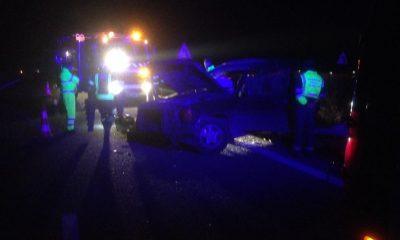 AionSur accidente-A92-Arahal-400x240 Aparatoso accidente en la A92 a su paso por Arahal, sin heridos Sucesos