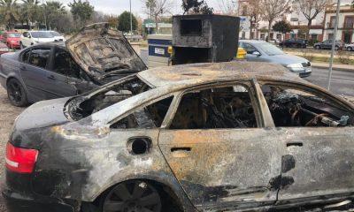 AionSur camas-incendio-coches-rumanos-400x240 Arden cuatro coches y varios contenedores en Camas Sucesos