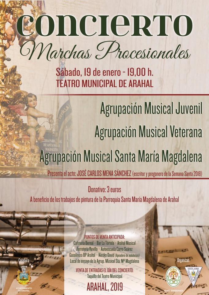 AionSur concierto-marchas-procesionales-Arahal Libros, flamenco y concierto de marchas procesionales, oferta cultural para el fin de semana en Arahal Agenda