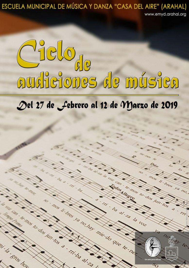 AionSur Ciclo-de-Audiciones-de-Música Nuevo Ciclo de Audiciones en la Escuela de Música y Danza de Arahal Agenda Arahal