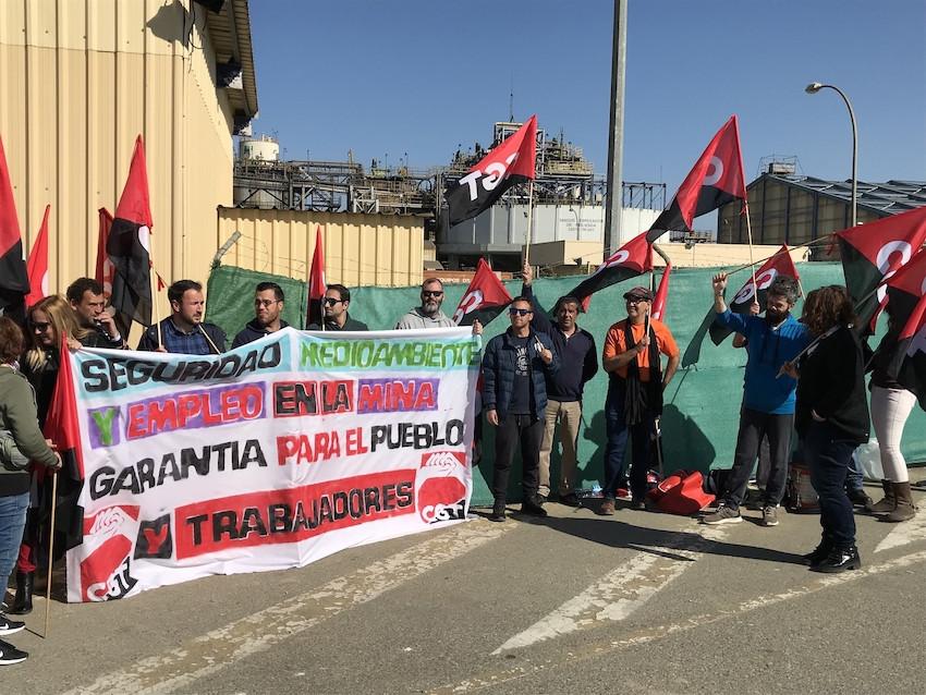 AionSur MinaManifa4-copia El ERTE de la mina de Gerena afectará a 25 trabajadores hasta el 30 de septiembre Empresas Gerena