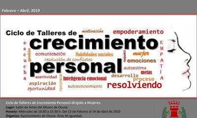AionSur cartel-CRECIMEINTO-PERSONAL-400x240 Igualdad en Osuna pone en marcha cinco talleres para el crecimiento personal de las mujeres Osuna Sierra Sur
